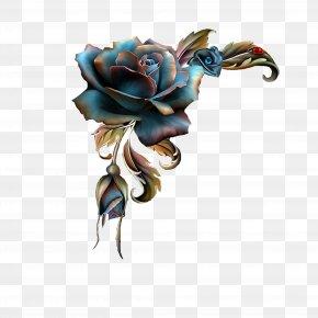 Gothic Rose - Clip Art Image Paint.net Computer Graphics PNG