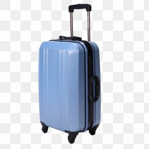 Light Blue Suitcase - Suitcase Travel Trolley Blue PNG