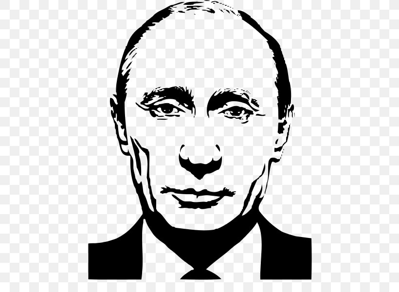 Vladimir Putin President Of Russia United States, PNG, 500x600px, Vladimir Putin, Art, Artwork, Black, Black And White Download Free