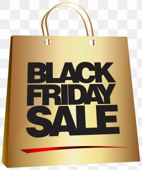 Gold Bag Black Friday Sale Image Clipart - Black Friday Clip Art PNG