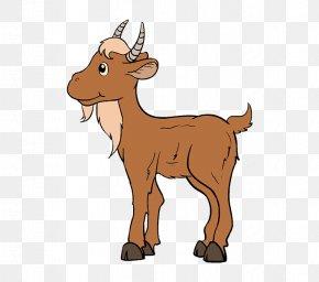 Goat - Goat Drawing Cartoon PNG