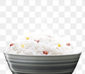 A Bowl Of Rice - Cooked Rice Congee Rice Cooker Food PNG