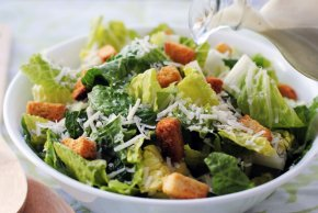 Salad - Caesar Salad Chef Salad Restaurant Romaine Lettuce PNG
