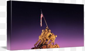 American Hero - Iwo Jima Marine Corps War Memorial Rosslyn Wall Decal PNG