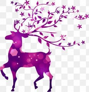 Deer - Deer Oil Painting Canvas Watercolor Painting PNG