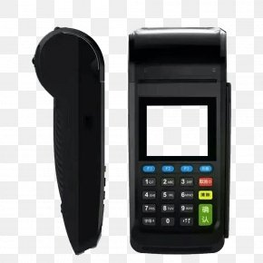 Black Credit Card Machine - Point Of Sale Payment Terminal Credit Card Cash Register Card Reader PNG