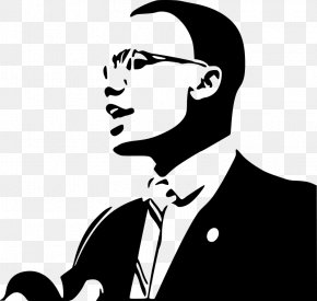 Malcom X - African-American Civil Rights Movement African American Black History Month Clip Art PNG