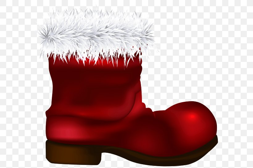 Christmas Stocking, PNG, 600x543px, Footwear, Boot, Christmas Stocking, Fur, Red Download Free