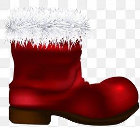 Christmas Stocking Snow Boot - Christmas Stocking PNG