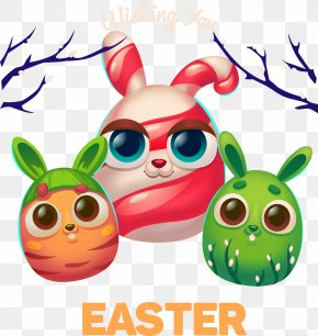 Vector Cartoon Rabbit - Easter Bunny Easter Eggs Coloring Book Free Easter Eggs Coloring Pages PNG