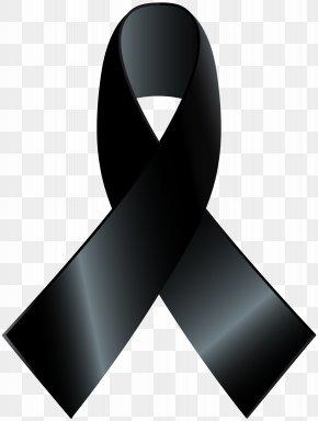 BLACK RIBBON - Awareness Ribbon Black Ribbon Clip Art PNG