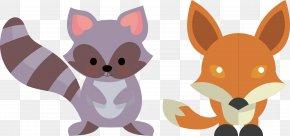Fox Raccoon Vector - Cartoon Raccoon PNG