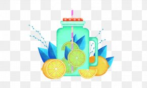 Lemon Drink Cup Illustration - Drink Illustration PNG
