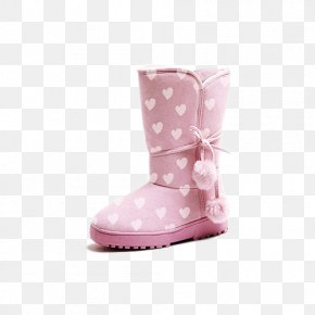 Pink Boots Pattern - Snow Boot Pink Child PNG