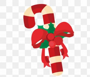 Christmas Cartoon Element - Candy Cane Christmas Gift PNG