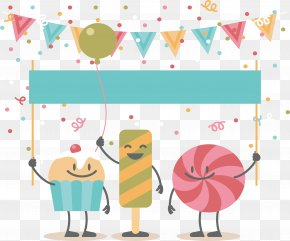 Candy Cake Party Poster - Birthday Cake Party PNG