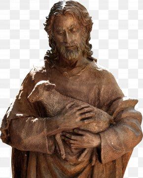 Jesus Sculpture - Jesus Good Shepherd St Gertrudes Catholic Church Sacred Heart God PNG