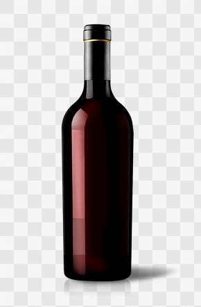 Picture Of Red Wine Bottle - Red Wine Champagne Bottle PNG