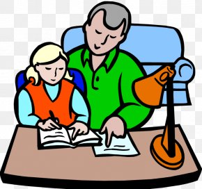 Help In Homework - Parent Child Homework Clip Art PNG