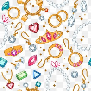 Jewelry Shading Background - Earring Jewellery Cartoon Gemstone PNG