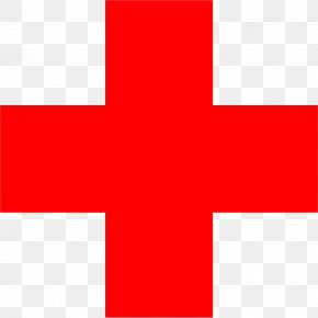 Red Cross HD - Square Area Angle Flag Pattern PNG