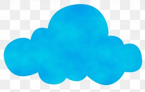 Symbol Sticker - Aqua Cloud Blue Turquoise Teal PNG