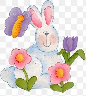 Spring Illustration - Easter Bunny Rabbit Clip Art PNG