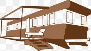 Home Arrow Cliparts - Mobile Home Campervans Caravan Clip Art PNG