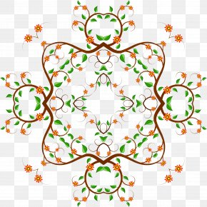 Flower Wreath - Flower Floral Design Art Circle Clip Art PNG
