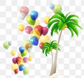 Green Cartoon Background - Balloon Children's Day PNG
