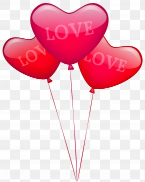 Love Heart Balloons PNG Image - Balloon Modelling Heart Wedding Valentine's Day PNG