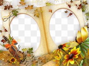Gold Frame - Digital Photo Frame Download PNG