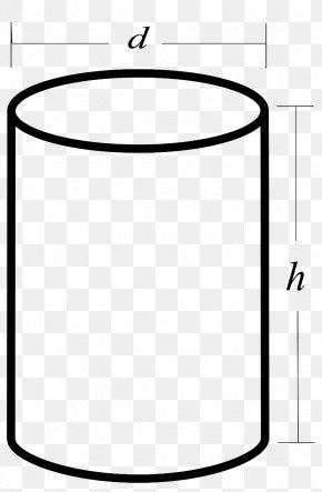 Sketch Cylinder - Cylinder Surface Area Clip Art Geometric Shape PNG