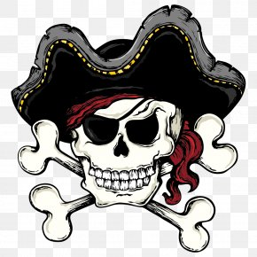 Pirate Skull And Bones - Skull And Bones Skull And Crossbones Piracy Clip Art PNG
