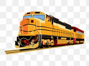Cartoon Train - Train Rail Transport Passenger Car Clip Art PNG