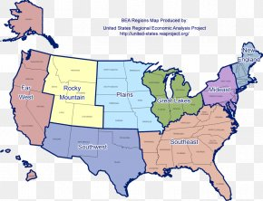 Map - Contiguous United States Southern United States Great Basin Map United States Census Bureau PNG