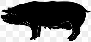 Pig Silhouette - Domestic Pig Silhouette Clip Art PNG