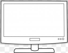 Computer Screen Clipart - Television Show Coloring Book Drawing PNG