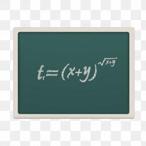 Vector Green Chalkboard - Brand Blackboard Font PNG