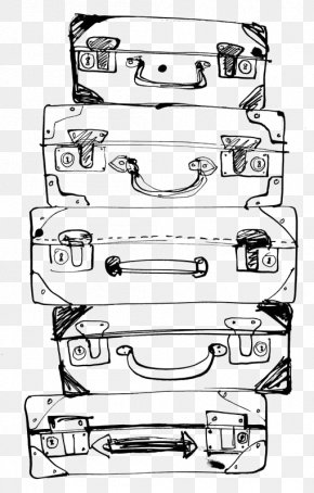 Suitcase - Painting Drawing Suitcase Travel PNG