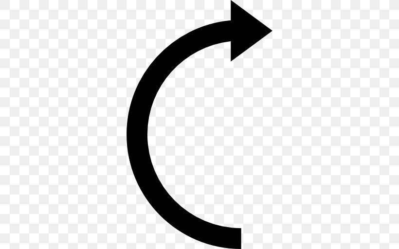 Curve Arrow Png 512x512px Curve Area Black And White