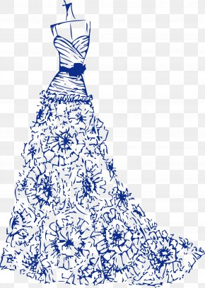 Marriage Wedding Wedding Flowers Wedding Perspective - Robe Drawing Cartoon Wedding Dress Marriage PNG