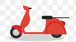 Motorcycle - Courier Delivery Online Shopping Cartoon PNG