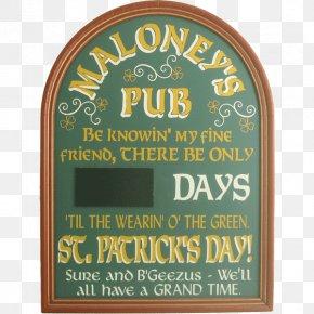 Saint Patrick's Day - St. Patrick's Day Countdown Saint Patrick's Day Guinness Irish People PNG