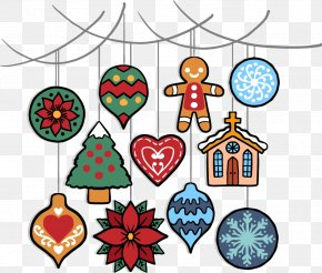 Cute Christmas Ornaments Element - Christmas Ornament Christmas Tree Clip Art PNG