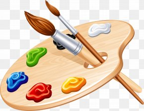 Painting - Palette Painting Paintbrush PNG
