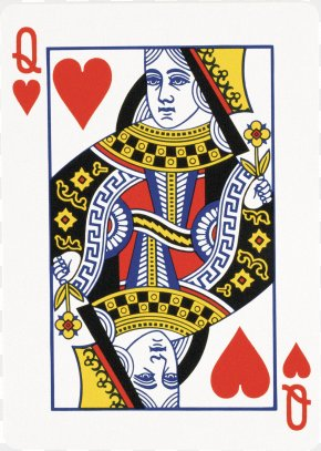 Playing Cards - Queen Of Hearts Playing Card King PNG