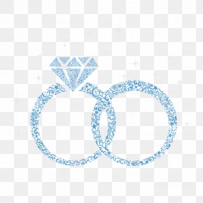 Blue Diamond Wedding Ring - Wedding Ring Marriage Engagement Ring PNG
