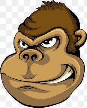 Vector Illustration Monkey - Angry Monkey Drawing Cartoon Illustration PNG