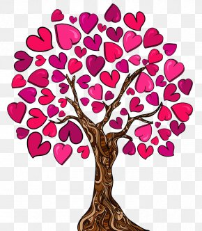Wedding Sign In The Tree - Family Tree Heart Love Clip Art PNG